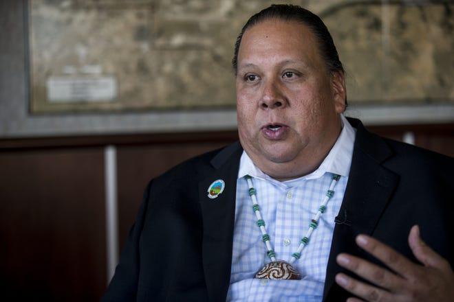Gila River Indian Community Gov. Stephen Roe Lewis speaks during an interview on Nov. 15, 2018, in Chandler.