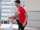 Brophy Prep midfielder Francesco Montanile runs a drill during practice in Phoenix on November 14.