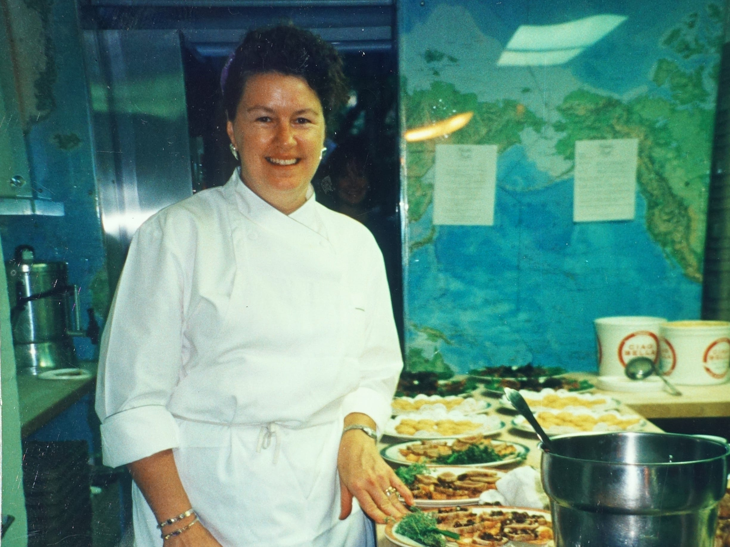 Chrysa Robertson at the James Beard House in New York City in 1997.