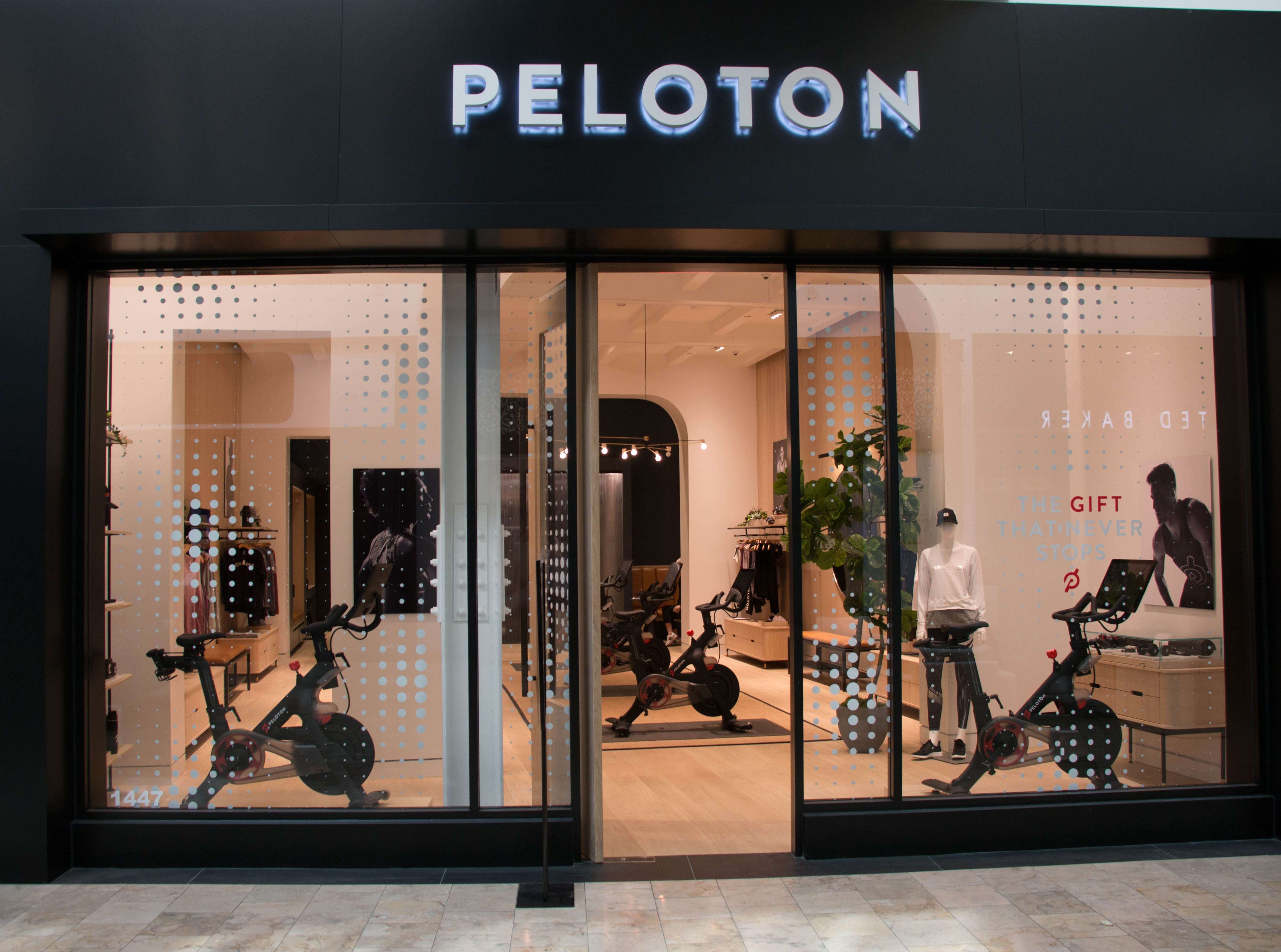 Peloton, which sells exercise bikes and equipment, opened a store in Scottsdale Fashion Square's luxury wing.