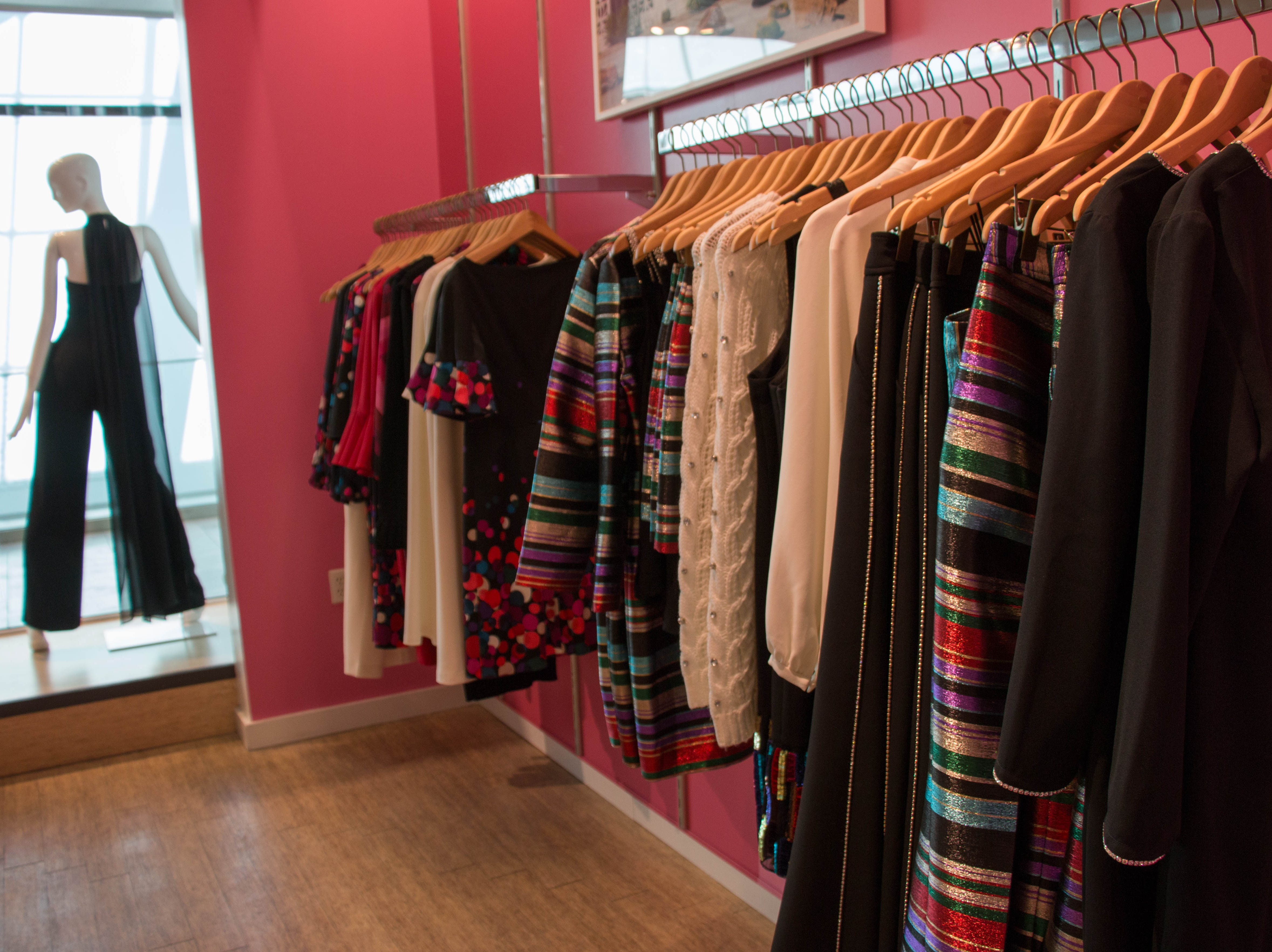 Trina Turk, a Palm Springs store, sells women's and men's clothing.