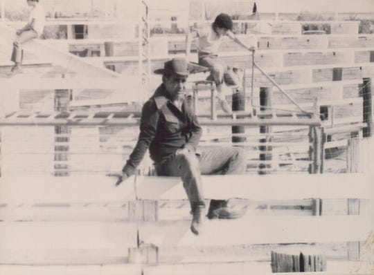 Floyd Gaines on the stands of the old rodeo grounds near Gaines Park in Surprise.