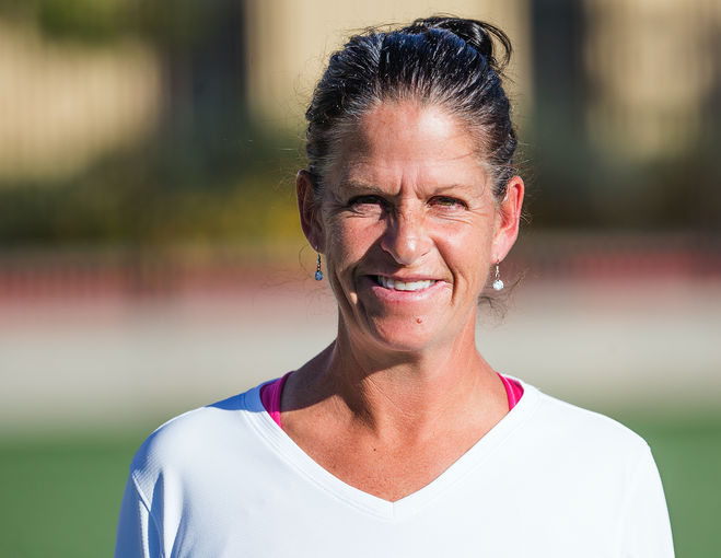 Xavier College Preparatory soccer coach Barb Chura takes a break during practice at the school, Tuesday, November 13, 2018.