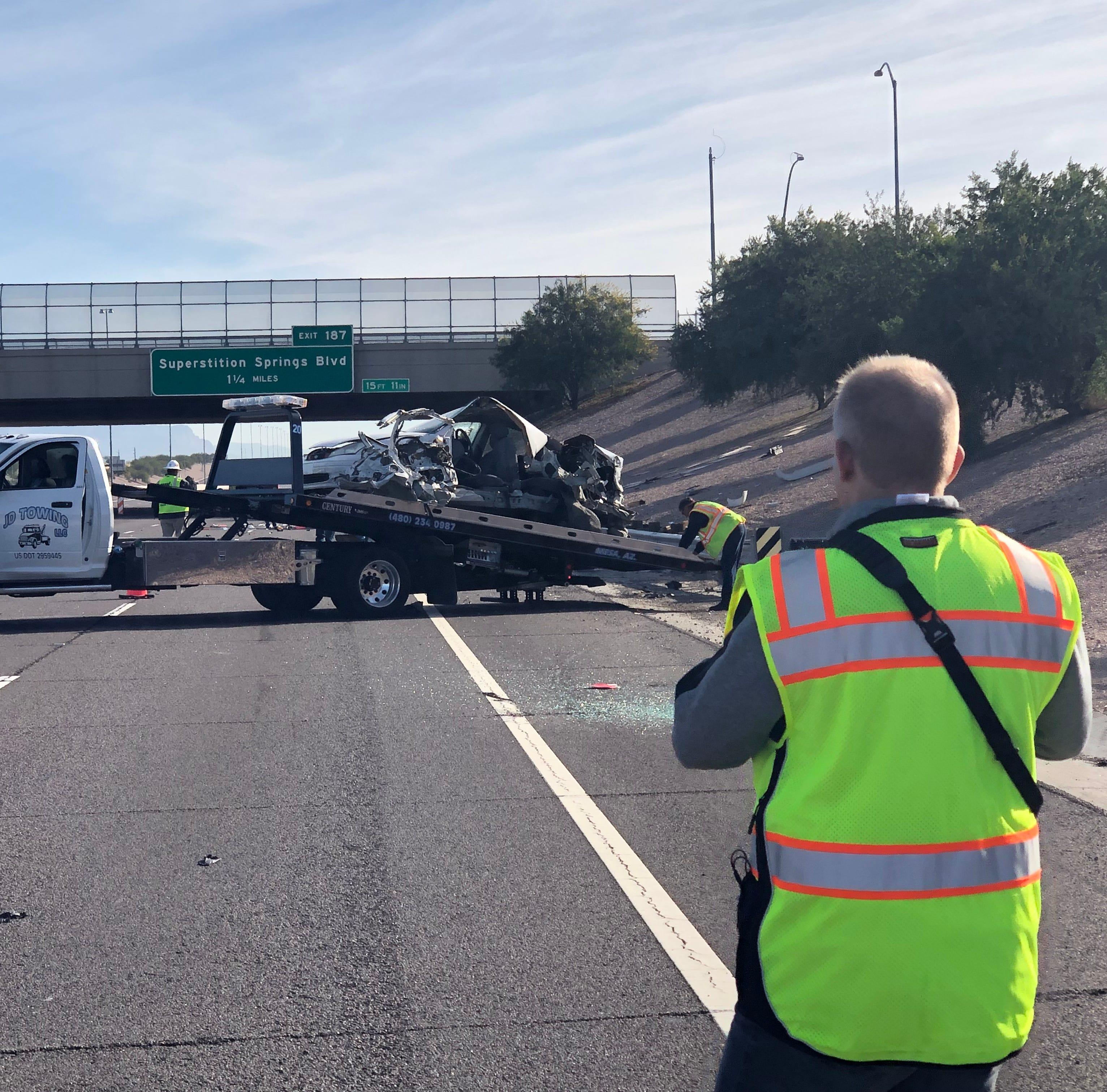 Eastbound U.S. 60 at Higley Road in Mesa reopens after fatal crash; ejected driver killed in hit-run