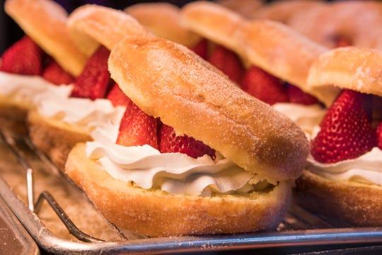 Donut Bar's strawberry split doughnuts.