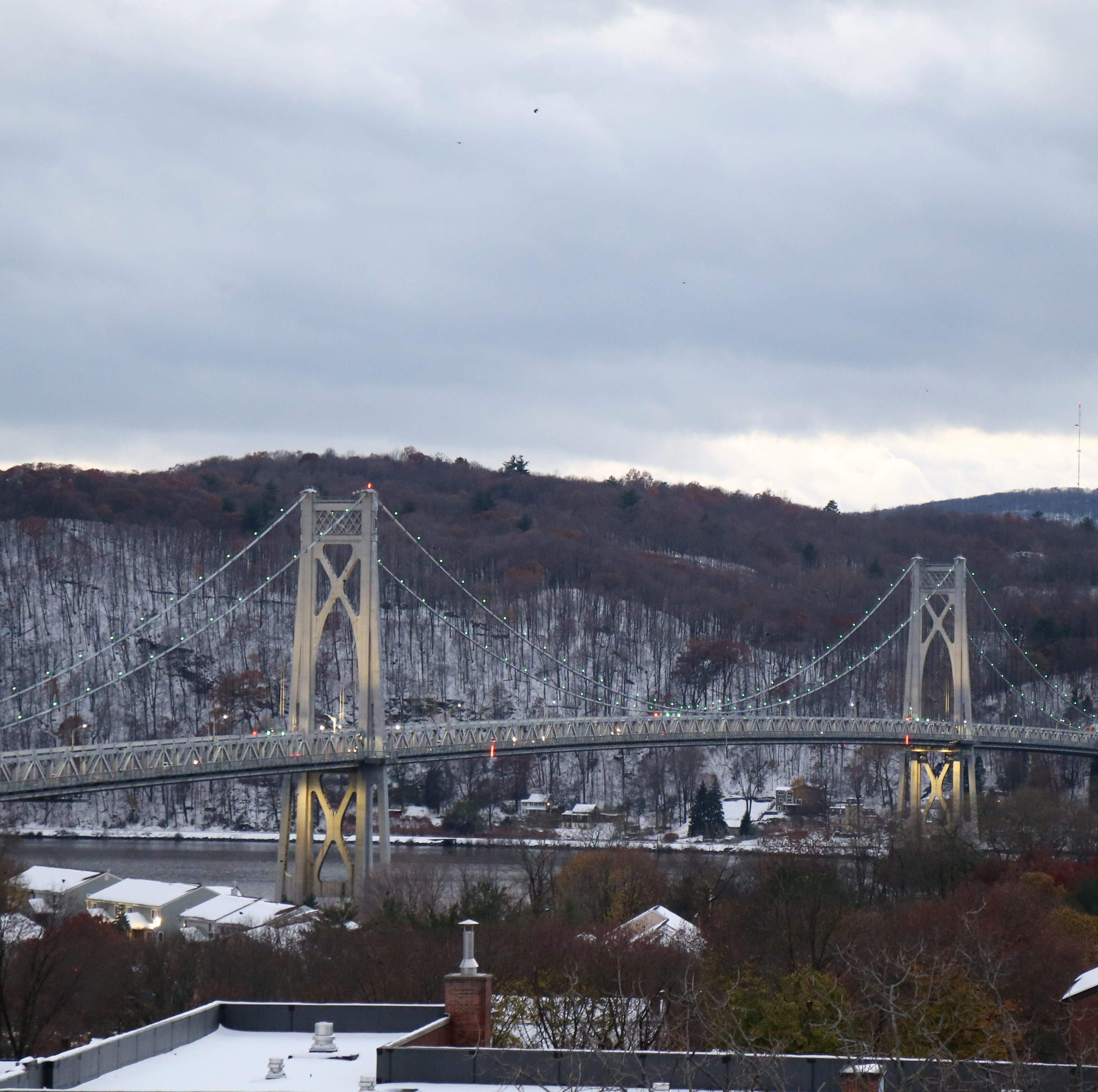 A view of the Mid-Hudson Bridge from the roof of Queen City Lofts in the City of Poughkeepsie on November 16, 2018.