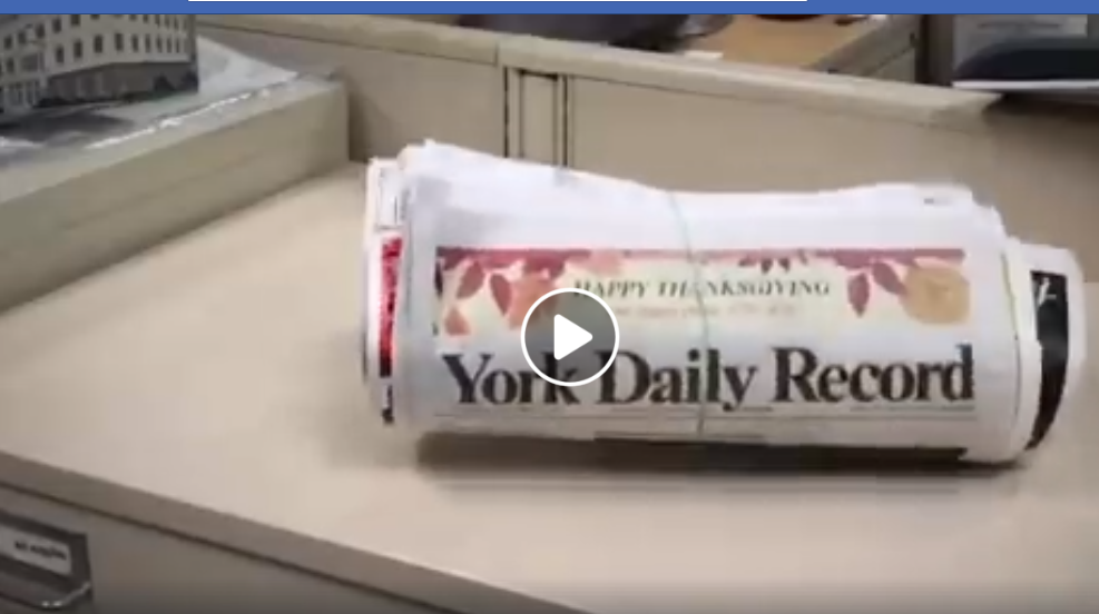The biggest, fattest newspaper of the year in York County - the YDR on Thanksgiving.