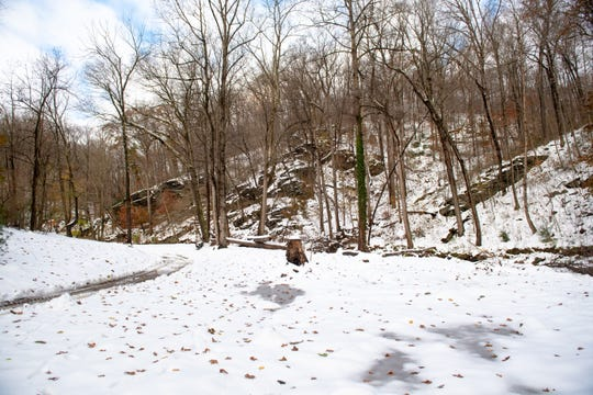 Donnie Grove used to watch eagles and otters from his home alongside Otter Creek. Now there's just a snow covered lot.