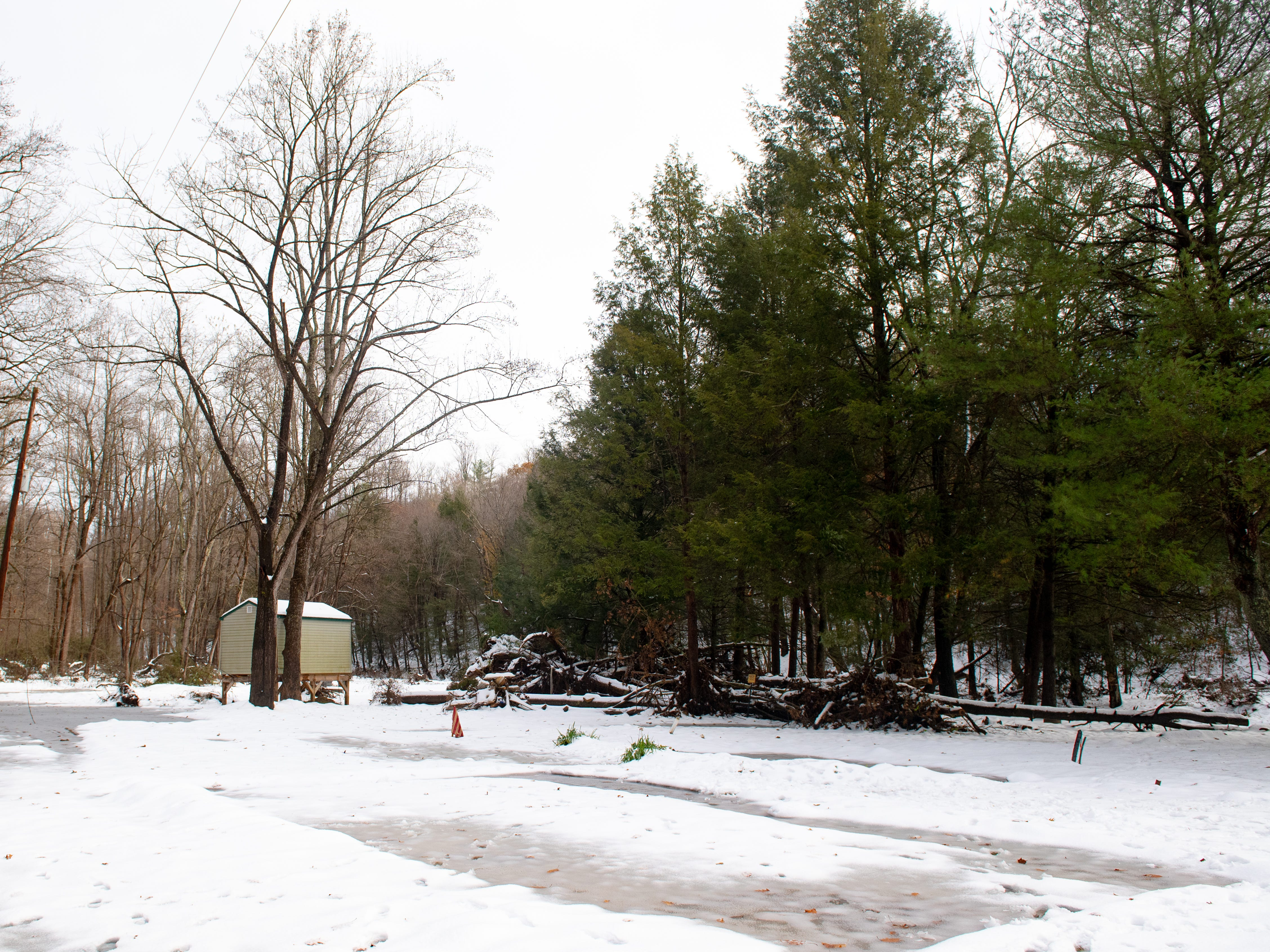 This is Bob Stoltzfus' property three months after the Otter Creek flood that devastated residences off of Kline Road, November 16, 2018.