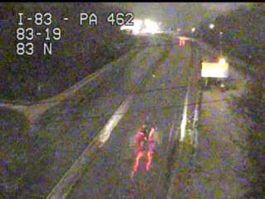 This is the Market Street exit of I-83.