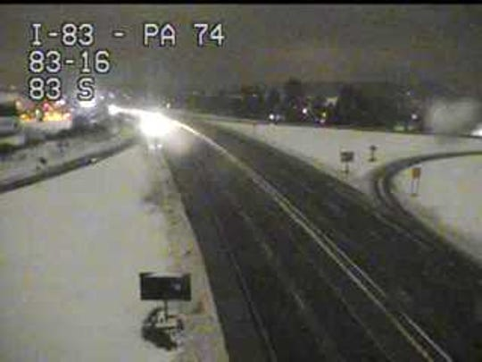 This is the Queen Street exit of I-83.