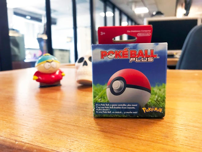 "The Poke Ball Plus can be used as a controller for ""Pokemon: Let's Go, Pickachu!"" and ""Pokemon: Let's Go, Eevee!"" It also comes with a free Mew Pokemon for the game."