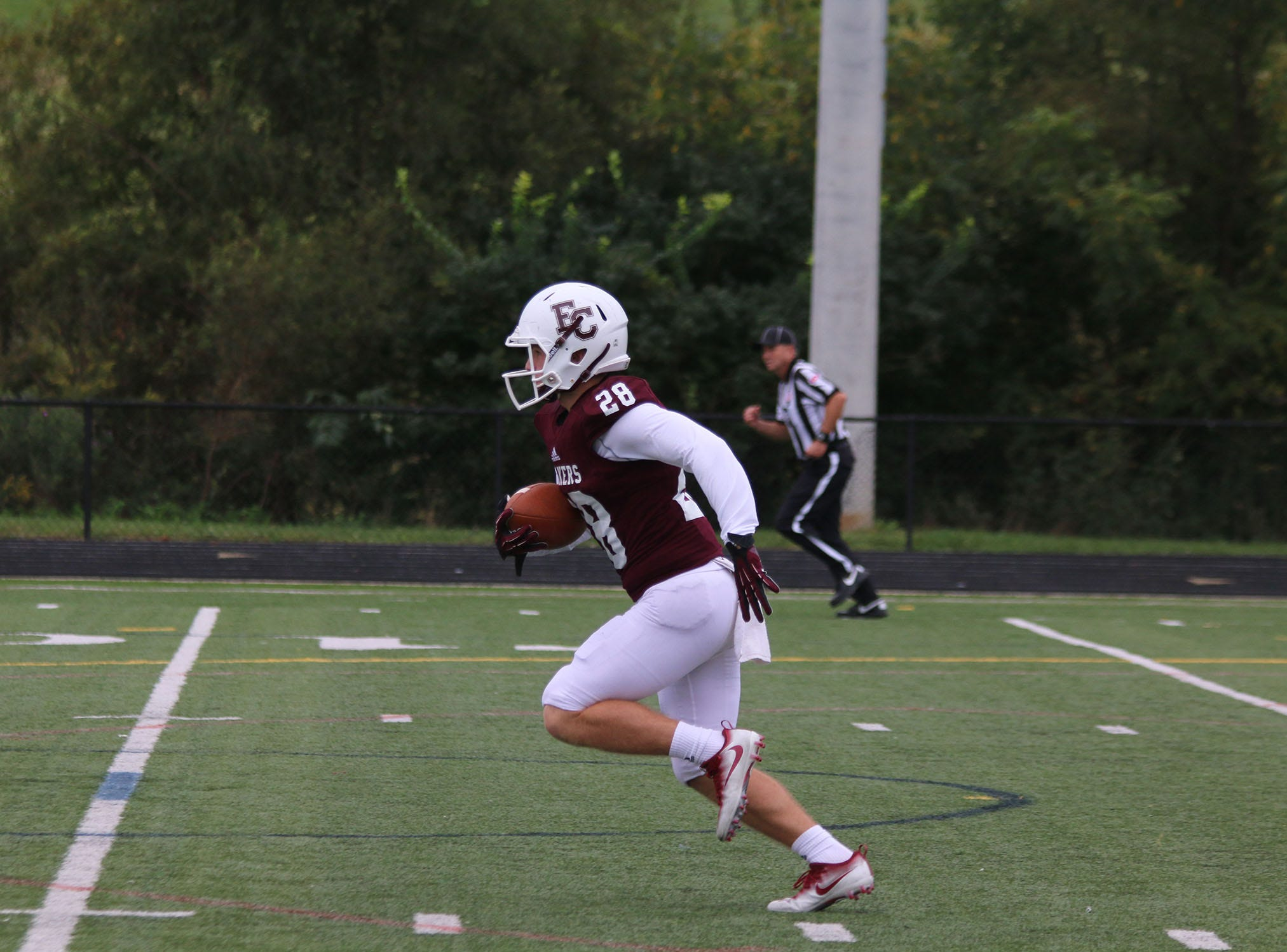 Connor Bray, a 2018 Northeastern High School graduate, played in 10 games, rushing for 47 yards on 19 carries and making 10 catches for 25 yards.