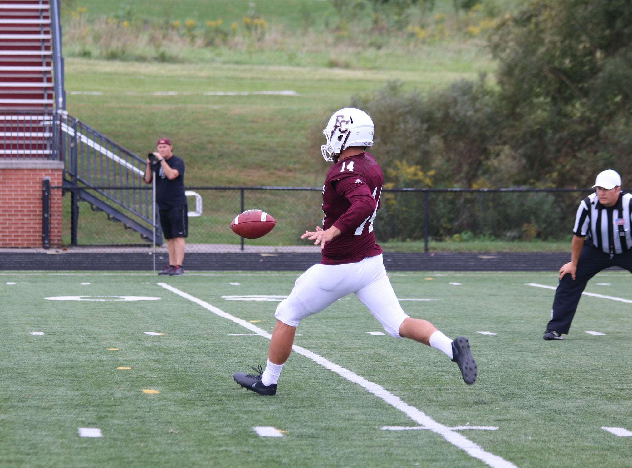 Jordan Christian, a 2016 Richmond High School graduate, led the Heartland Collegiate Athletic Conference in both total punts (61) and punt average (38.7), appearing in nine games as a junior at Earlham College. He was the only Quaker to earn first-team All-HCAC honors.