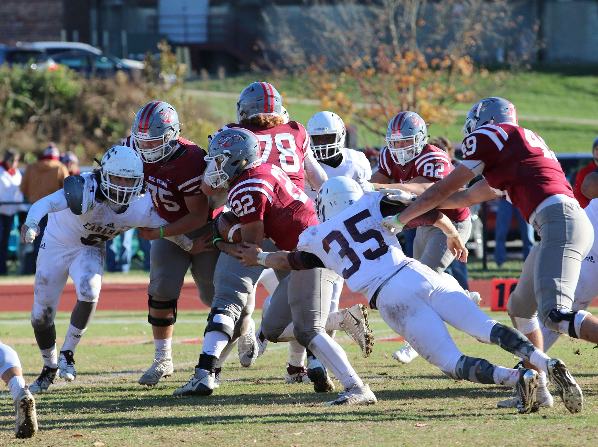 Kobe Walker, a 2015 Richmond High School graduate, led the Heartland Collegiate Athletic Conference with 115 total tackles as a junior on the Earlham College football team. He also had a quarterback sack, and recovered a pair of fumbles, earning All-HCAC second-team honors