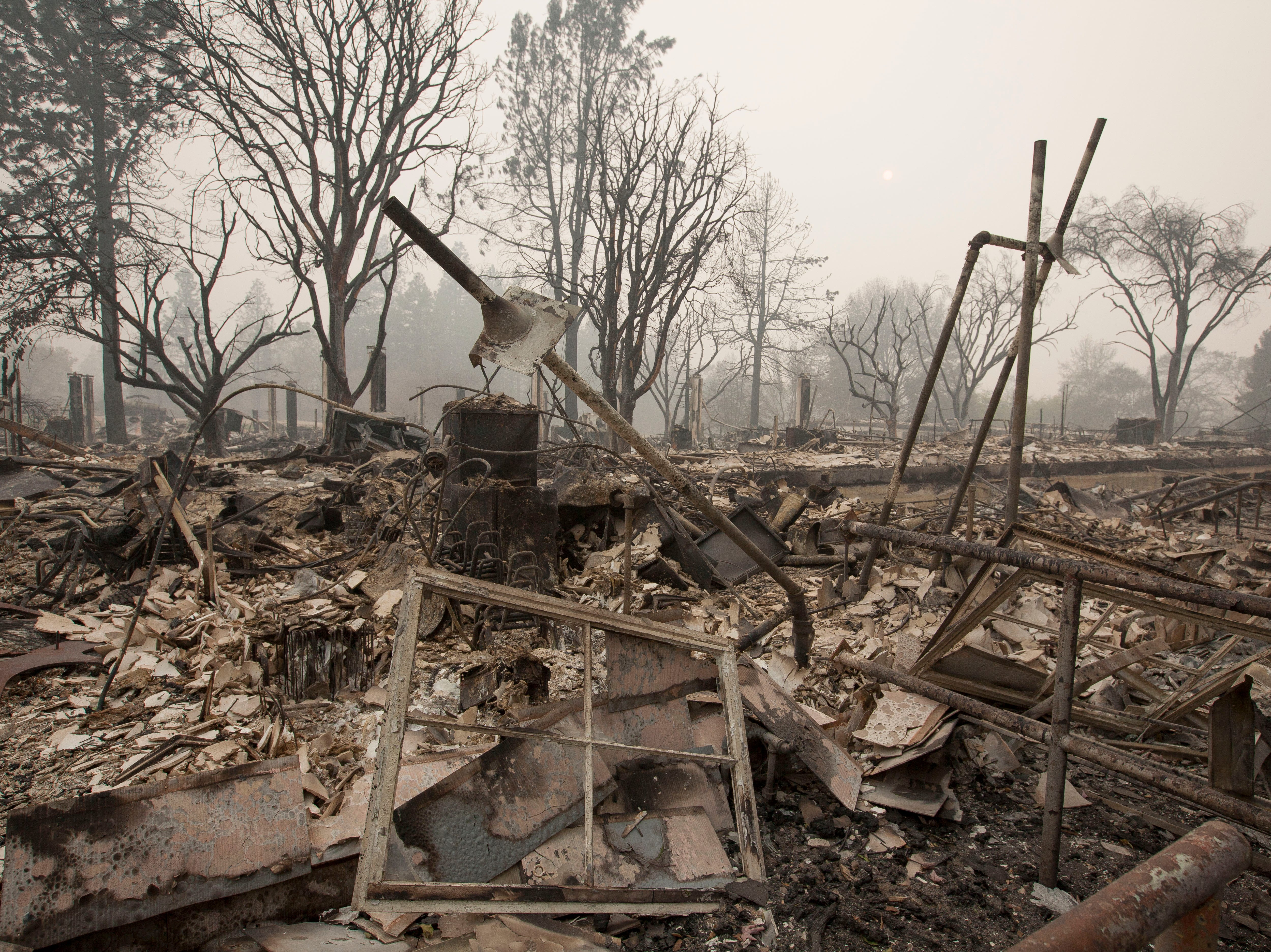 Very little remains of Paradise Elementary School in Paradise, CA, after the Camp Fire devastated the area.