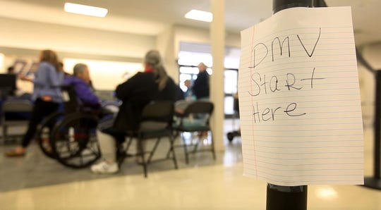 Camp Fire survivors get help at the FEMA assistance center that opened in the old Sears store in the Chico Mall Friday, Nov. 16, 2018. The center is set up for fire survivors to have access to local, state and federal assistance to begin the process of rebuilding.