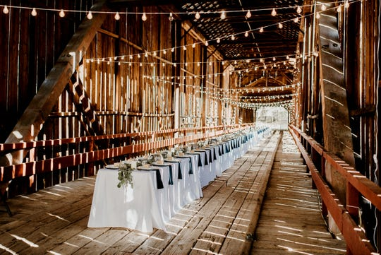 The Honey Run Covered Bridge set up for an Oct. 14 wedding, less than a month before the Camp Fire burned it down.