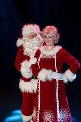 "Cal Hunter and Lizzie Stoxen return to their roles as Santa and Mrs. Claus in the 14th annual production of ""Cascade Christmas."""