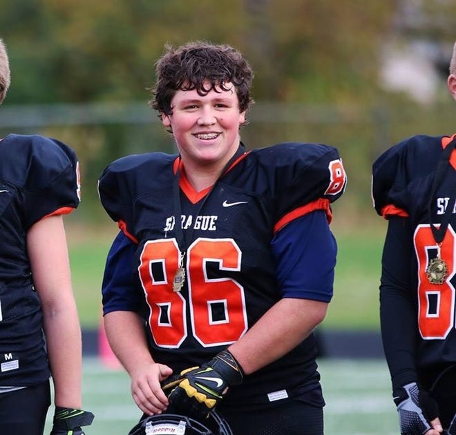 Ben McMann, a standout football player, was always one of the biggest players on his teams. He played offensive and defensive line and was an all-star in middle school before coming to Sprague.