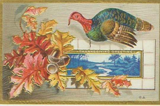Thanksgiving postcard from the turn of the century.