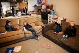For more than a year, Denay and Travis Tubbs have worked on turning their property into a meth-free home. They are shown working on their house on Thursday, Nov. 15, 2018, in Jefferson. The couple, who have seven kids, purchased the property last year and found it was contaminated with meth.