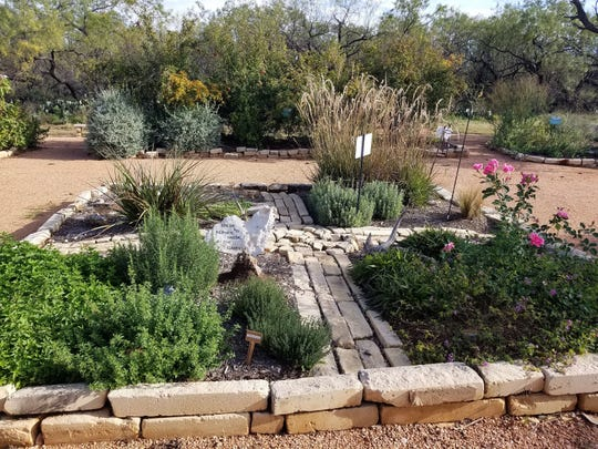 This herb garden at the Tom Green Co. 4-H Center in San Angelo livens up the landscape.