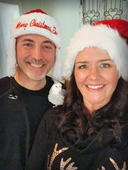 Sean (left) and Kristina (right) Malone are helping Santa Claus answer letters with their Santa's Letters initiative. Courtesy of Kristina Malone.