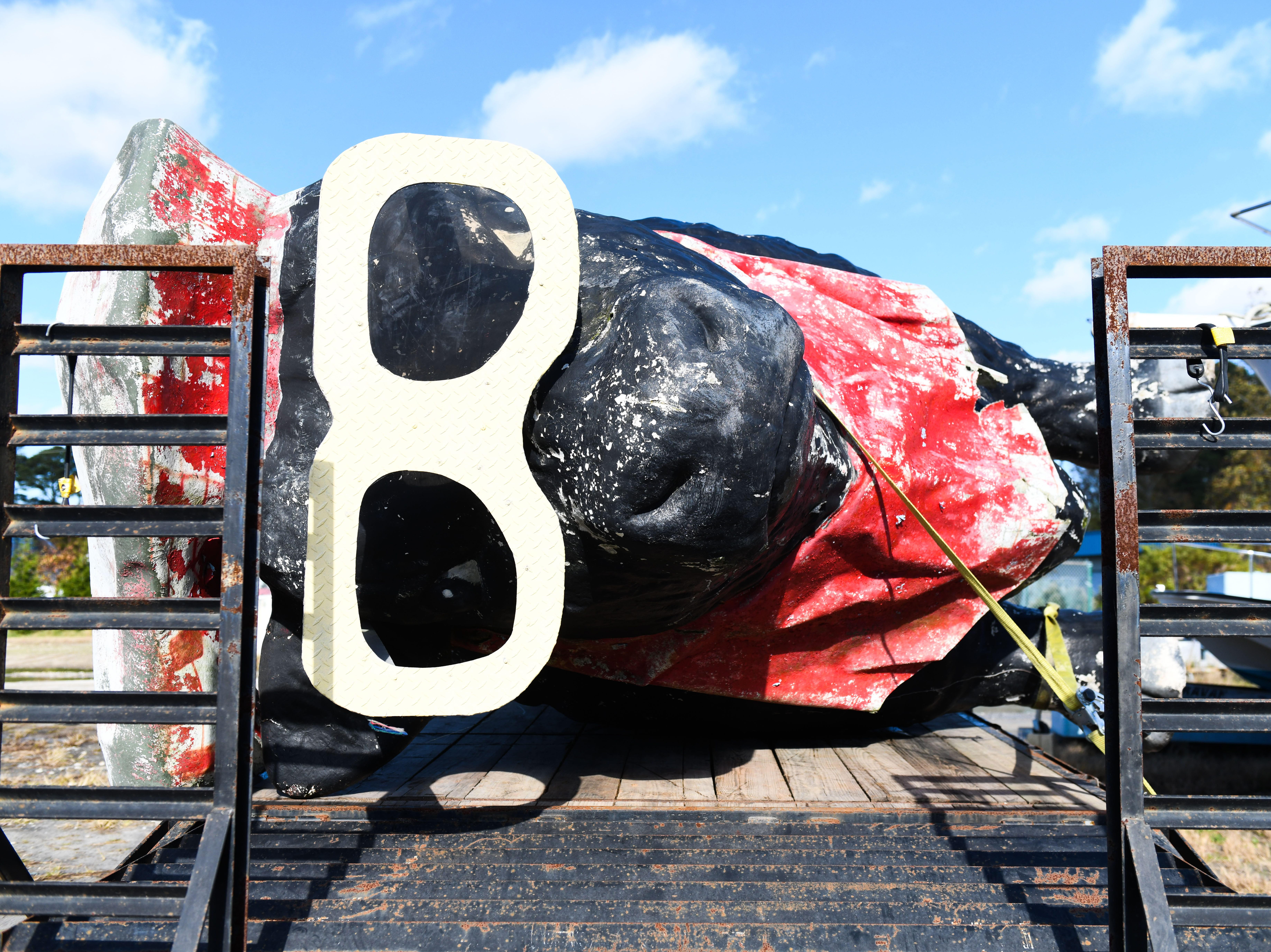 """Mr. Ocean City,"" the near-45-year-old fiberglass bull known for standing outside Capt. Bob's Steak and Seafood House until 2003, will be getting a face lift and finding a new home in Dagsboro."