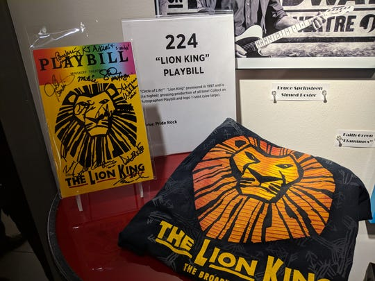"""Playbill signed by the Broadway cast of """"The Lion King"""" for bid at Christmas in the Sky: Broadway."""