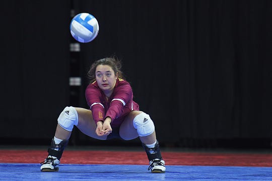 Roosevelt's Marisa Beintema during the game against Washington in the AA quarterfinals Thursday, Nov. 15, at the Denny Sanford Premier Center in Sioux Falls.