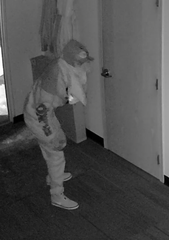 The Mitchell Police Department is searching for two suspects involved in a local business burglary Nov. 9 between 10:45 and 10:55 p.m. More than $500 was stolen.