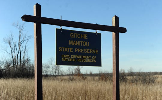 The Gitchie Manitou State Preserve where four people were murdered in 1973.