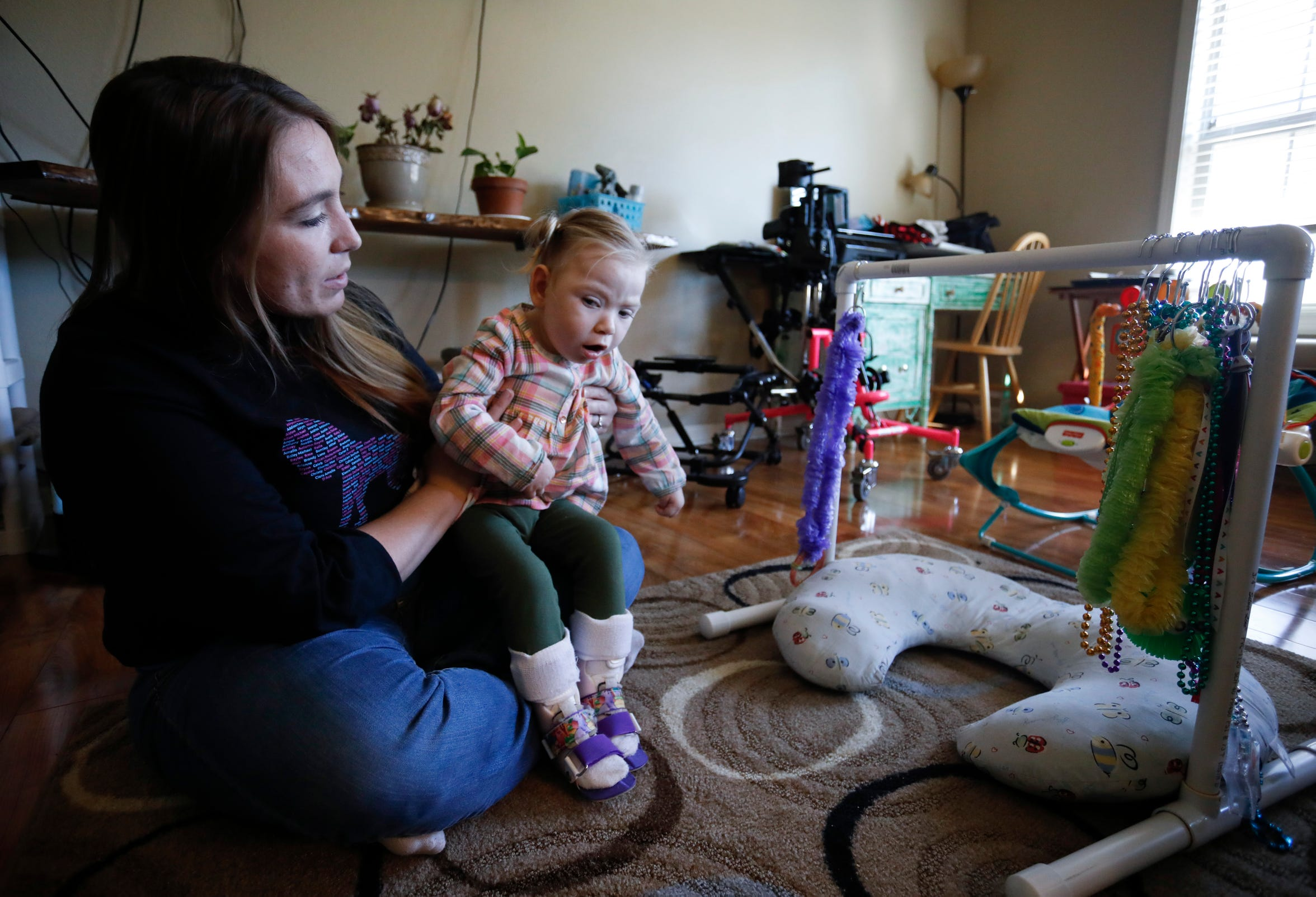 Courtney Ernst and her two-year-old Cyrina were helped through Share Your Christmas last year.