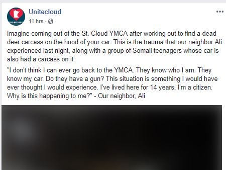 Skinned deer carcasses dumped on cars at St. Cloud Area Family YMCA, police investigating
