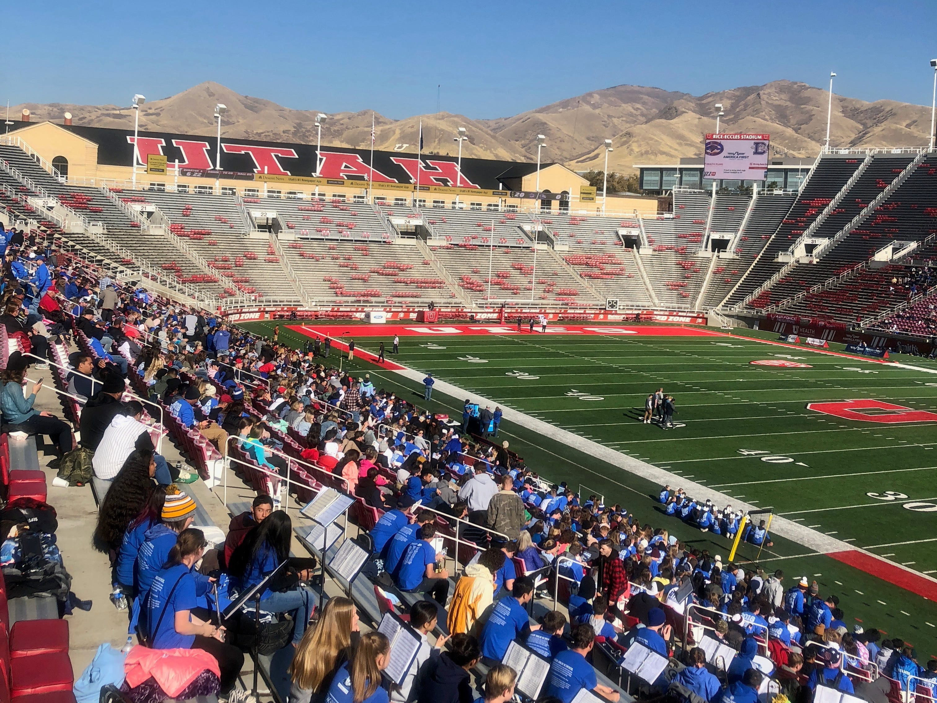 Dixie was trailing Orem heading into the third quarter of the state championship game at Rice-Eccles Stadium in Salt Lake City on Nov. 16, 2018.