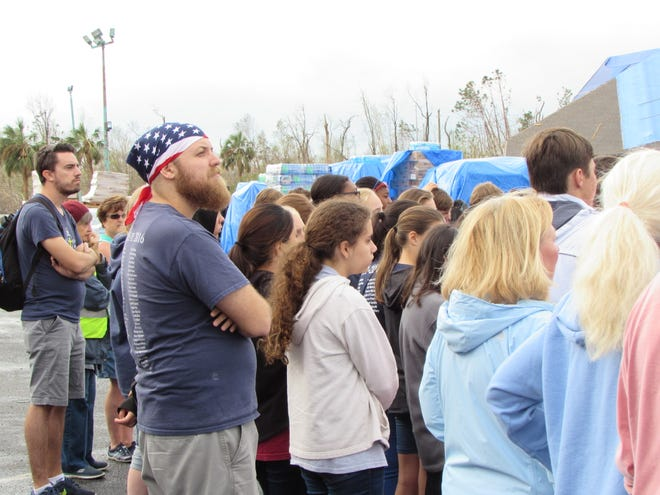 Trinity Catholic School's 8th-grade class went to Panama City to assist in the Hurricane Recovery.
