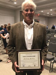 Bill Bolton received a citizen's lifesaving award Nov. 15, 2018 from Florida Highway Patrol and Indian River County Fire Rescue.