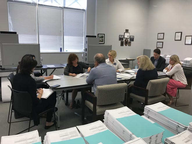 Martin County Canvassing Board reviews questionable ballots for U.S. Senate on Nov. 16, 2018.
