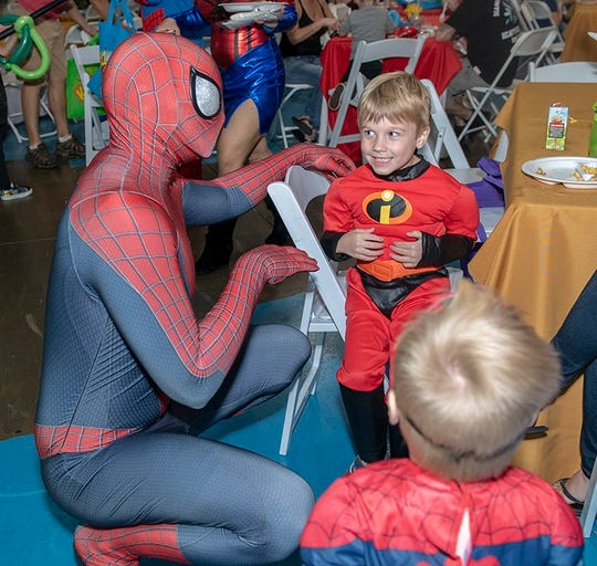 Adults and children alike had a great time at The Children's Museum's Superhero Smash.