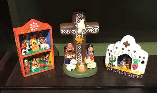 These Peruvian nativity sets make a great gift for the holidays. Available at Dreadful Things in Central El Paso.