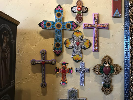 Find a great selection of decorative crosses at Desert Gypsy on the West Side.