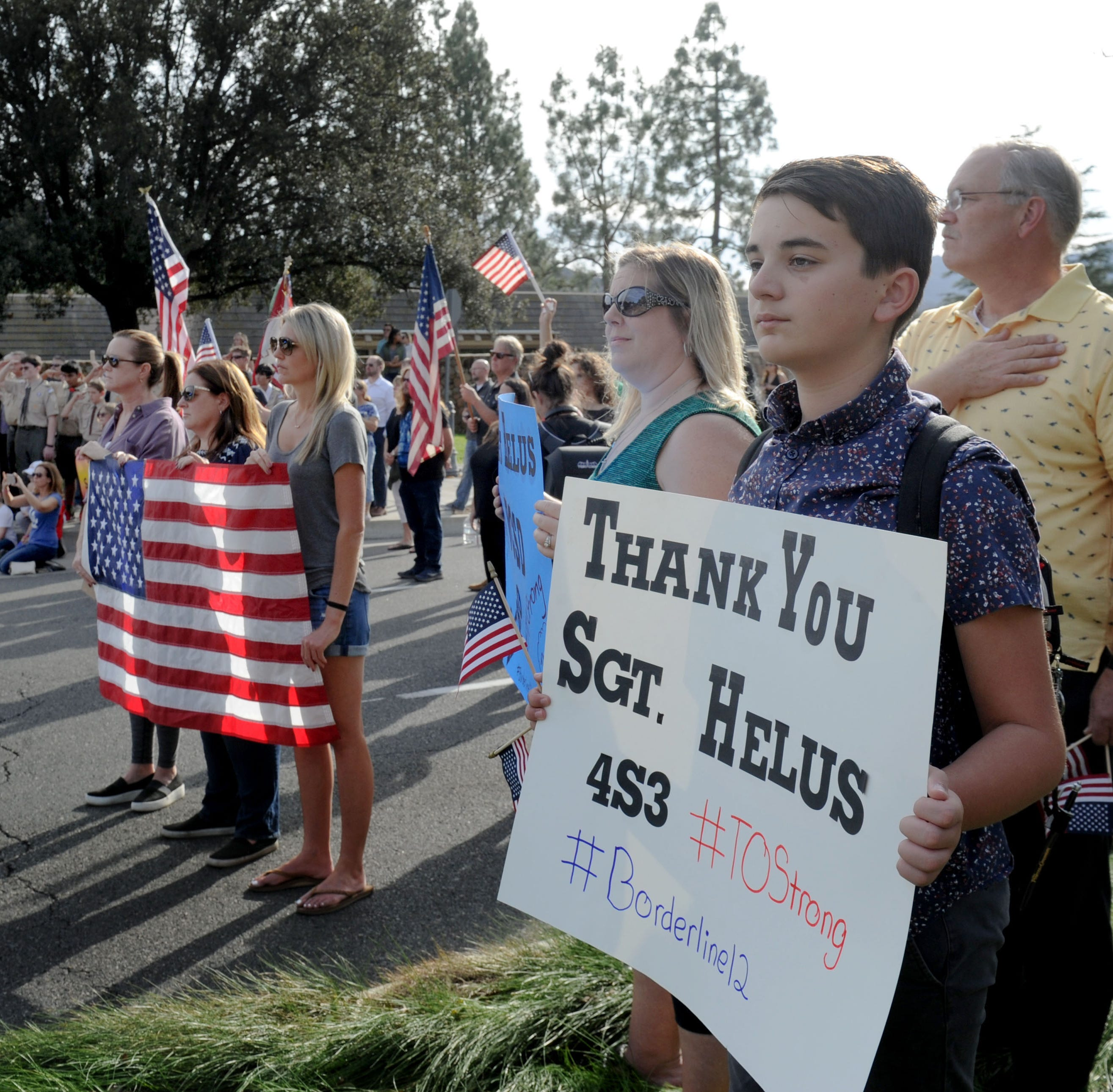 They came to honor a Ventura County sheriff's sergeant who died saving others