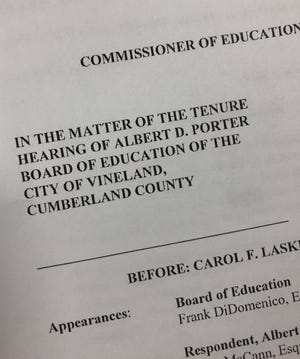 Arbitrator's ruling in Albert Porter tenure hearing