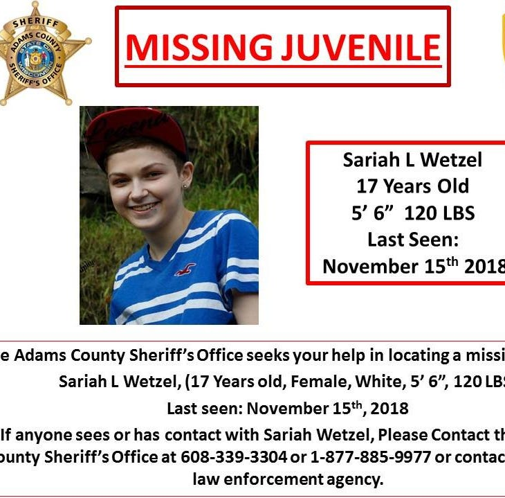 Police are looking for missing 17-year-old Adams County girl