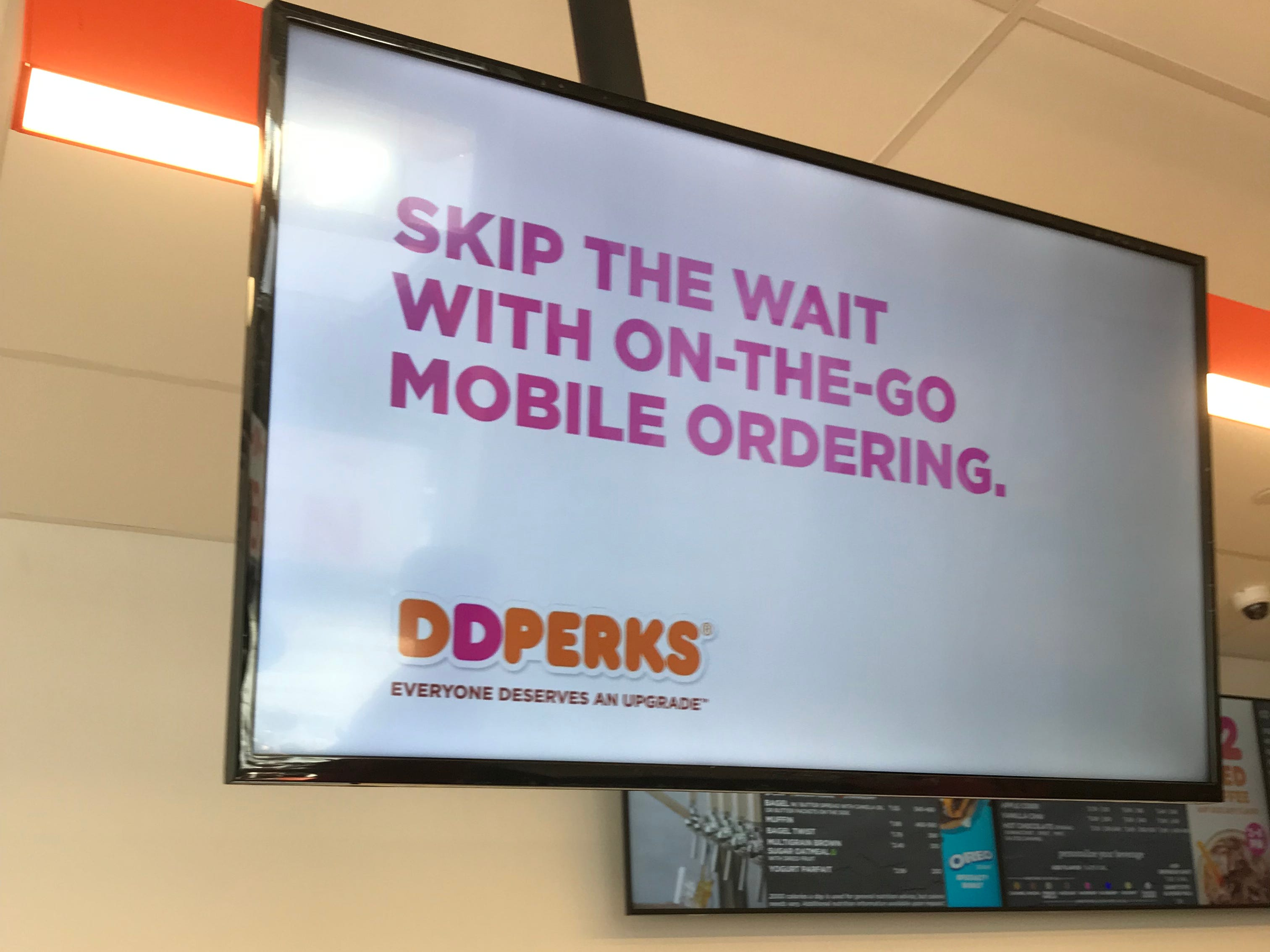 Signage at the new  Dunkin'/DD store in Hartsdale. This is the first Next Generation Dunkin' Donuts in Westchester.