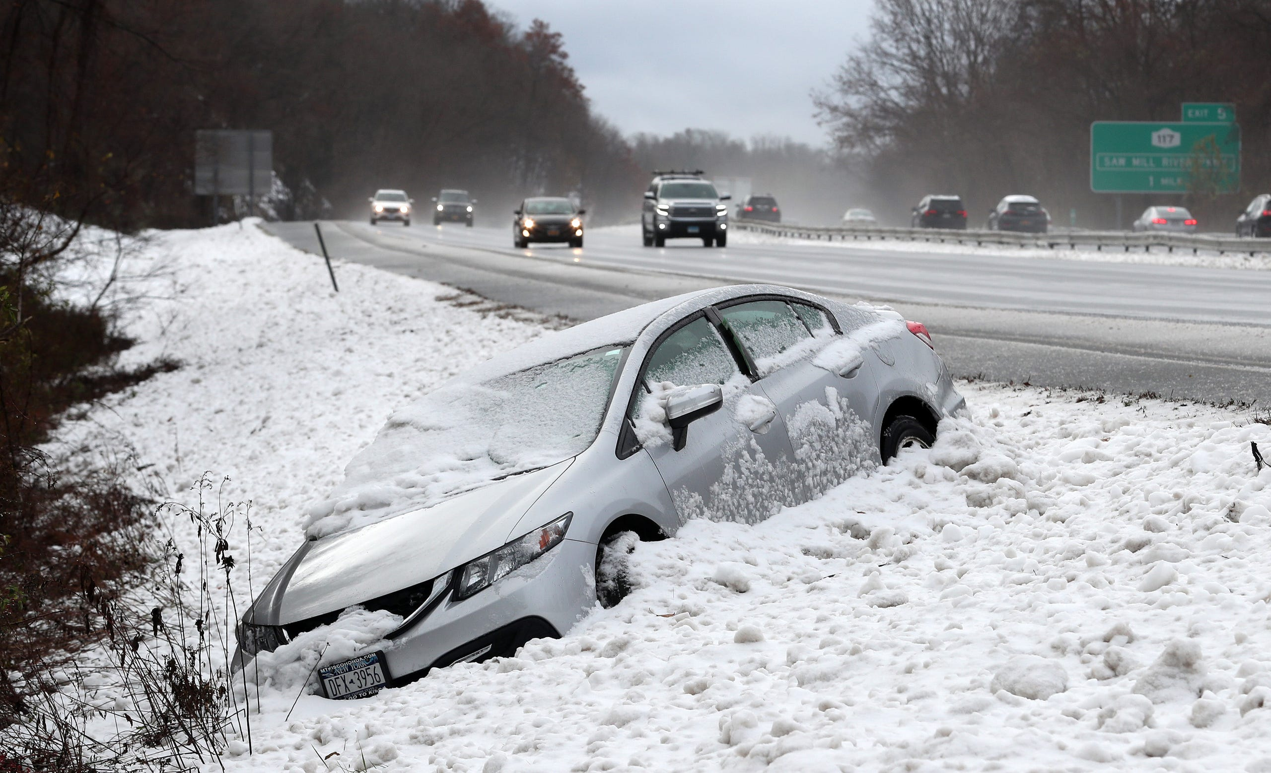 Photos: Snow, road conditions in Lower Hudson Valley