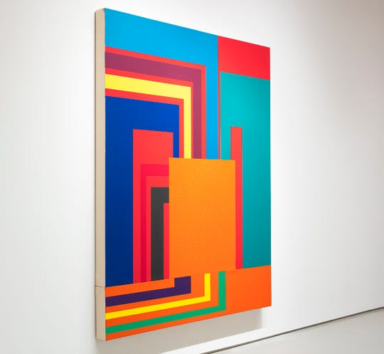"""Installation View """"Peter Halley: Unseen Paintings 1997 – 2002, From the Collection of Gian Enzo Sperone"""""""