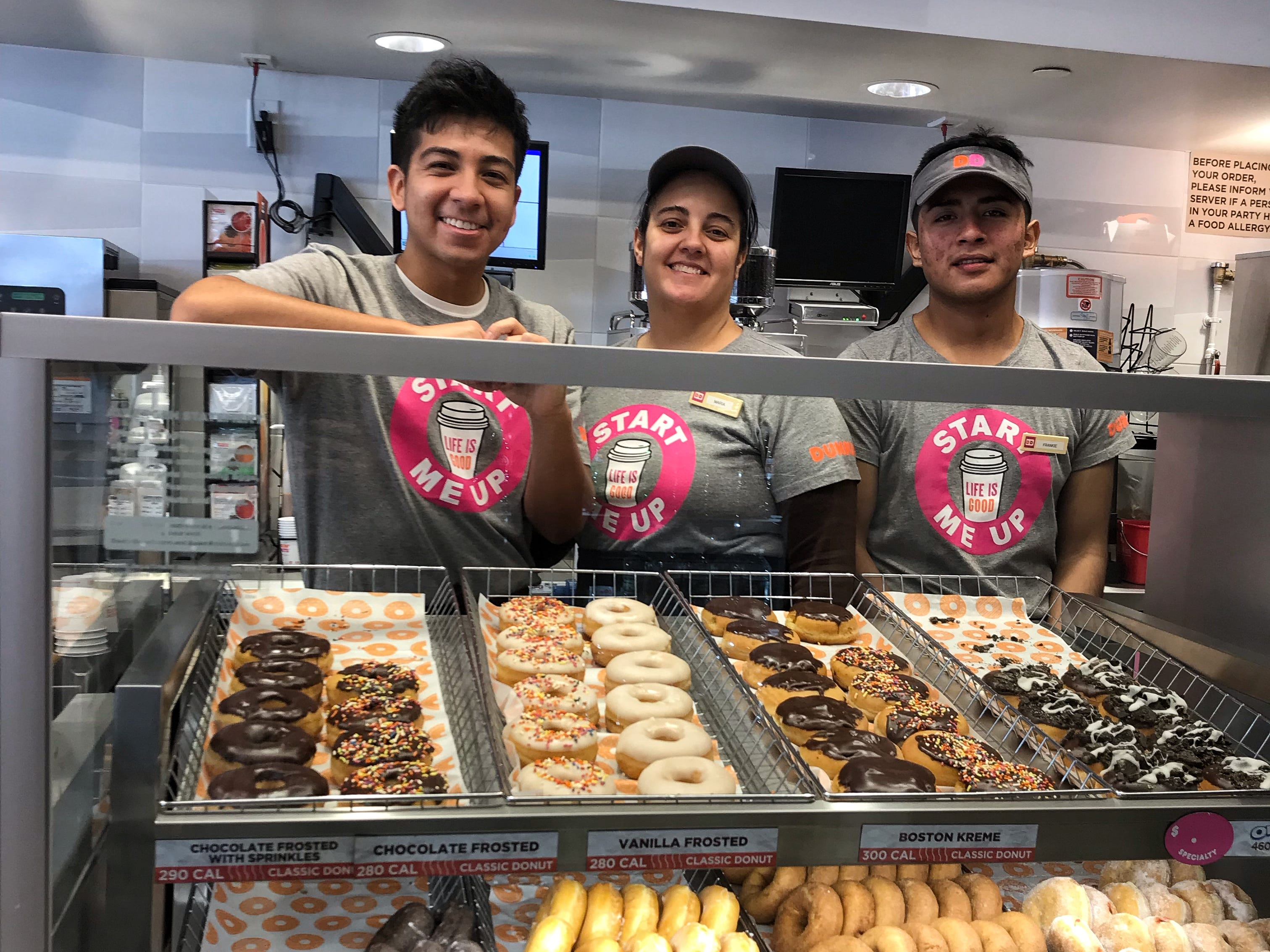 The new bakery-style display at the Dunkin/DD store in Hartsdale, the first Next Generation store in Westchester.