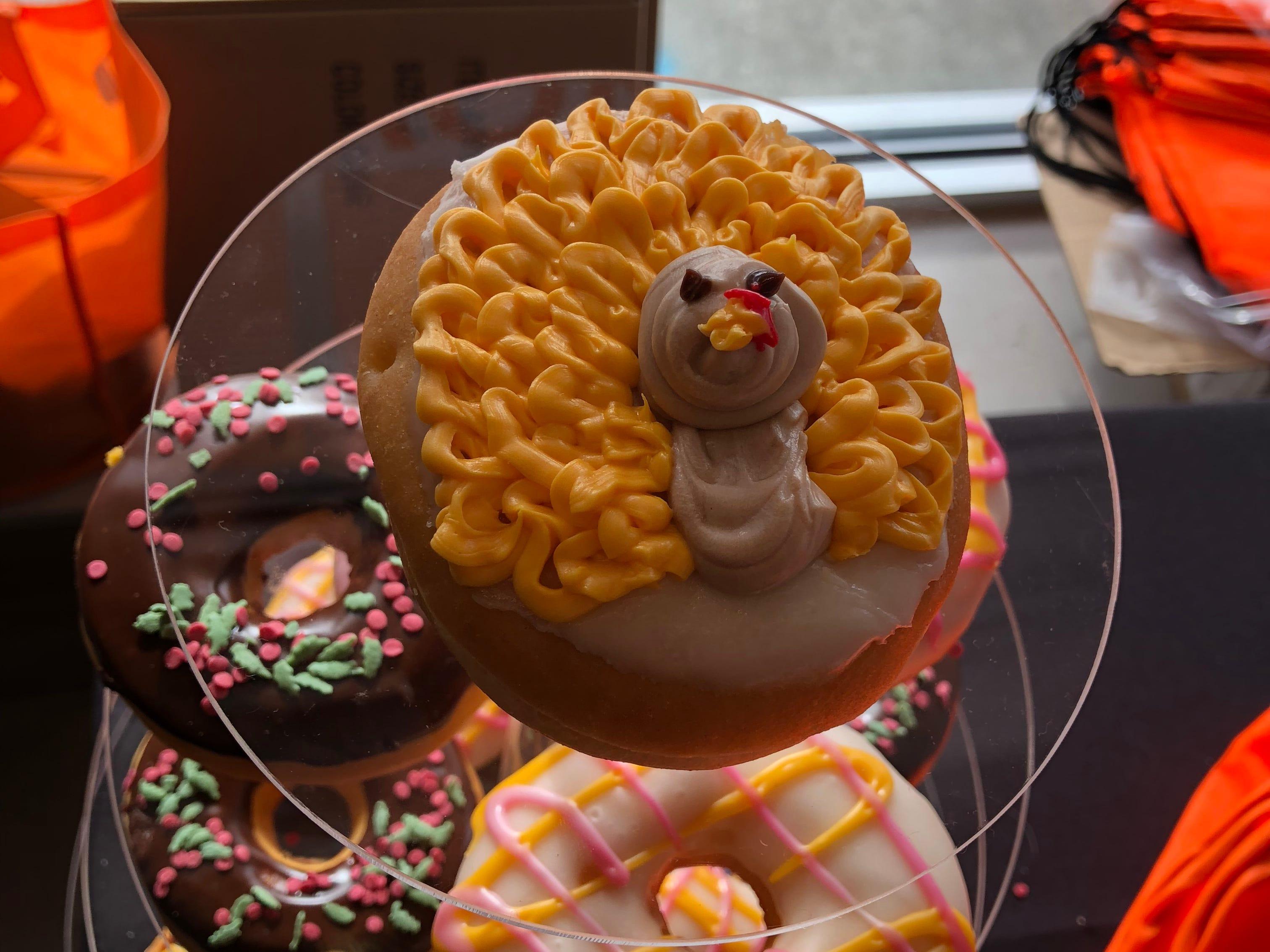 The new turkey doughnut at Dunkin'/DD in Hartsdale.